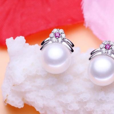 天然淡水珍珠耳钉女防过敏气质简约日韩国迷你S925纯银耳环银饰品