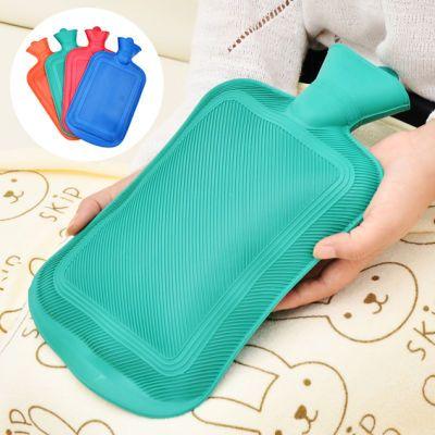 充开水橡胶热水袋注水暖水袋保温防爆暖手宝暖宫暖腰暖腿带绒布套