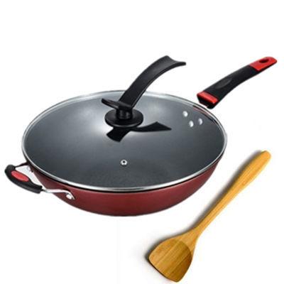 32cm不粘锅炒锅具无油烟煤气电磁炉通用煎锅