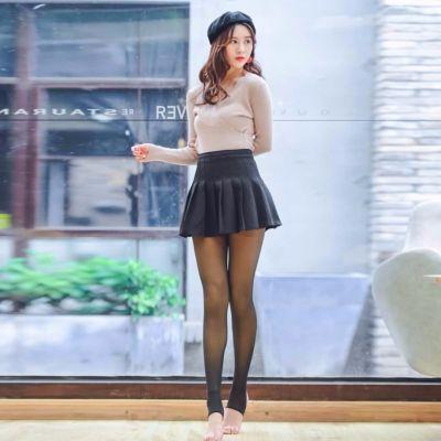 【蕾莉莎】秋冬加绒加厚打底裤女士假透肉一体裤高腰显瘦光腿神器