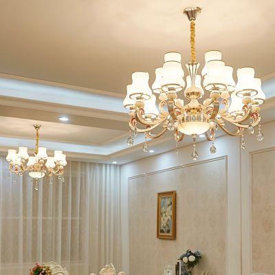 吊灯客厅卧室欧式现代简约锌合金温馨浪漫创意房间灯餐厅水晶灯具