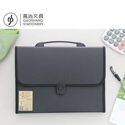 风琴包文件夹多层学生简约资料册收纳袋手提文件袋试卷韩版票据包