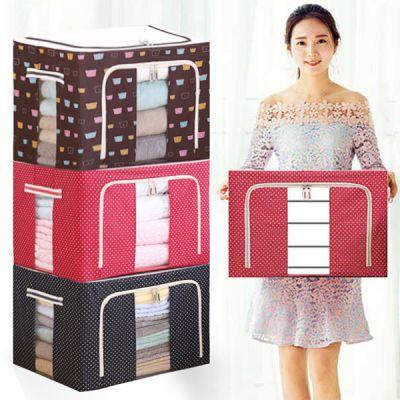 E-特大号衣服钢架收纳箱包牛津布棉被袋搬家整理百纳储物箱子化妆