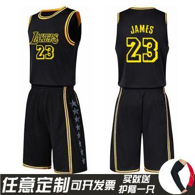 湖人队詹姆斯23号球衣男夏季短袖背心库里篮球服科比团购定制欧文