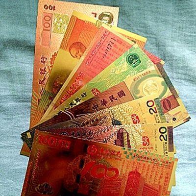 包邮金箔钞纪念钞全套8张龙钞建国钞荷花钞奥运钞工艺收藏品