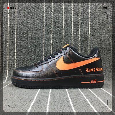 AF1板鞋空军一号黑橙陈冠希Vlone联名款男鞋女鞋运动鞋815771-991