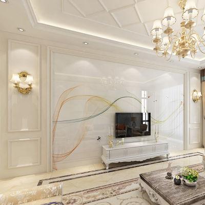 定制3d立体电视背景墙瓷砖微晶石客厅影视墙瓷砖现代简约欧式风格