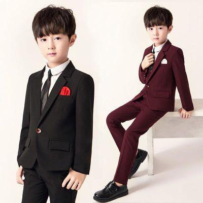 儿童西服三件套2018春秋新款男童韩版小西装套装主持人花童婚礼服