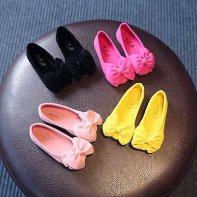 小孩高跟鞋女水晶鞋儿童洛鞋女童舞蹈鞋儿童发带女韩版拉丁舞童夏