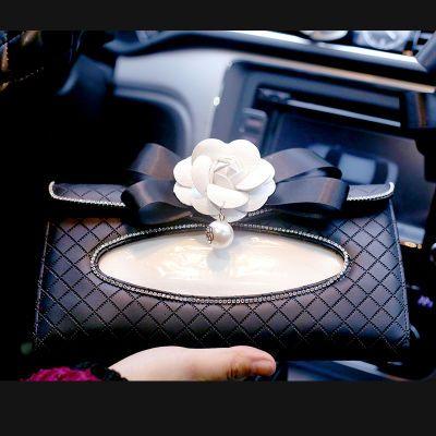 遮阳板椅背挂式车载车内用纸巾盒创意真牛皮汽车用品纸巾套抽纸盒