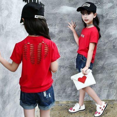 4儿童女孩子�B恤5女童t恤��血短袖6夏季7小学生衣服8夏天半袖12岁