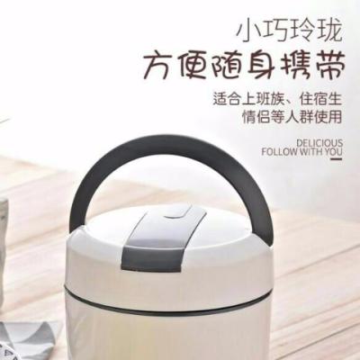 时尚欧式双层陶瓷内胆保温盒适用学生白领使用