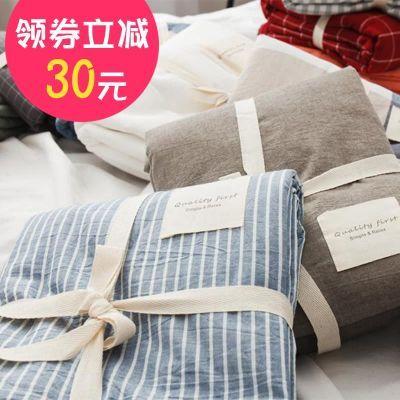 日式床笠单件纯棉全棉水洗棉加厚1.5 1.8m床罩床单席梦床垫保护套