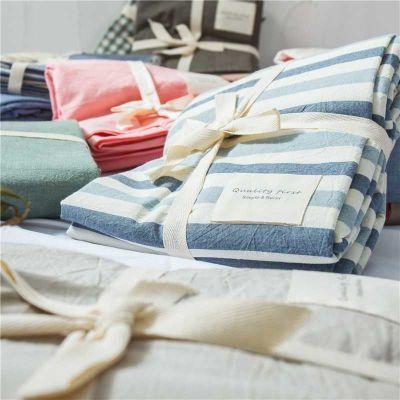 日式良品纯棉床单单件单双人学生宿舍水洗棉全棉被单1.5m1.8米床