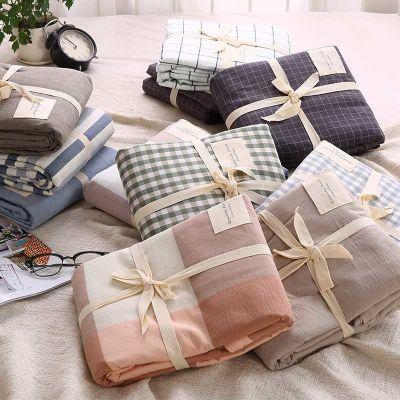 日式良品纯棉床单单件单双人学生宿舍1.5m 1.8米床水洗棉全棉被单