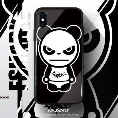 权志龙手机壳hipanda熊猫人苹果6/8p/X/p20/oppor15玻璃手机壳x21