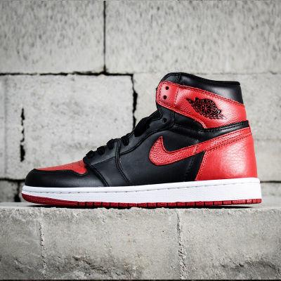 公司级真皮篮球鞋aj1男鞋运动鞋乔一代经典芝加哥高帮拼色女鞋潮