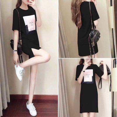 2018夏季新款韩版学生小清新裙子女夏修身显瘦中长款小心机连衣裙