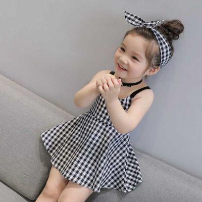 夏季女童连衣裙夏装儿童背心裙01-2-3-4岁女宝宝无袖棉麻婴儿裙子
