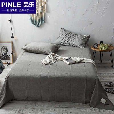 网红ins水洗棉床单单件全棉纯棉加厚1.5m1.8米1.2床单人双人被单