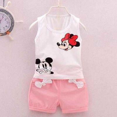 米老鼠米奇图案衣服儿童短袖T恤短裤子中裤夏天棉质套装男女童装