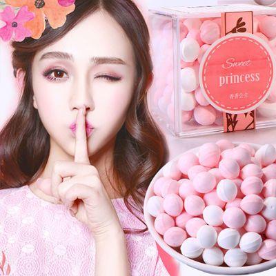 95g玫瑰香体糖持久约会亲吻接吻糖口气清新薄荷糖果礼盒