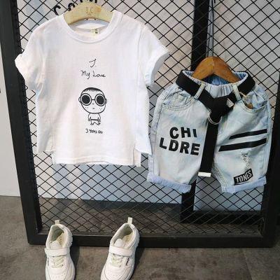 男宝宝儿童套装2018新款3岁2男孩夏季韩版衣服1双胞胎兄弟装0童装