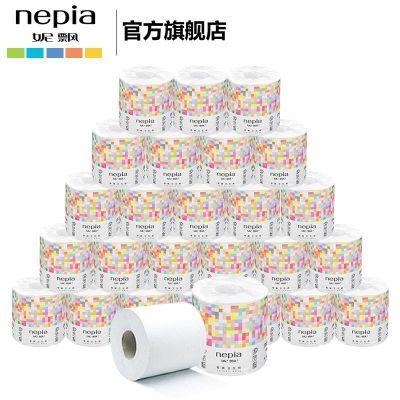 妮飘印象主义卷筒卫生纸/卷纸家用厕纸3层*310段*27卷