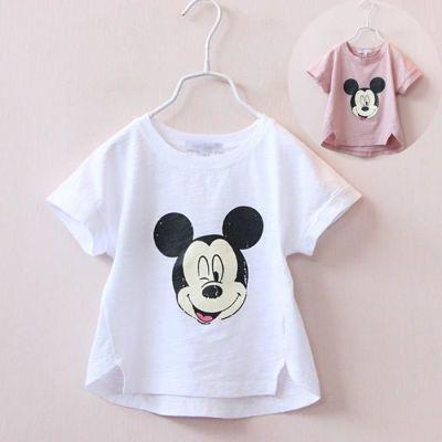 女童夏季短袖T恤2018新款3-4-5-6岁小女孩韩版纯棉米奇上衣半袖衫