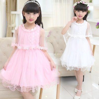 6女童连衣裙4到15岁儿童裙子12夏季纱裙9白色10表演8小学生14公主