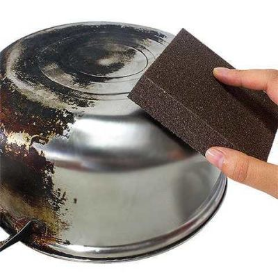 【高档刷锅神器】金刚砂海绵魔力擦去顽固污垢擦锅洗碗超强去铁锈