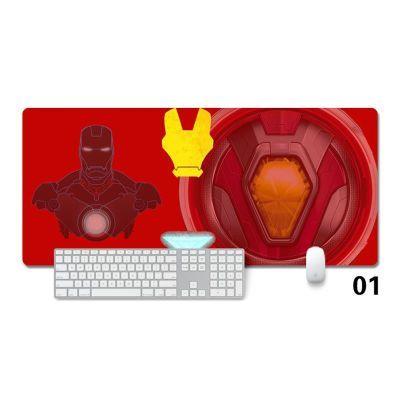 漫威电影周边超大鼠标垫英雄钢铁侠美国队长电脑办公游戏锁边桌垫