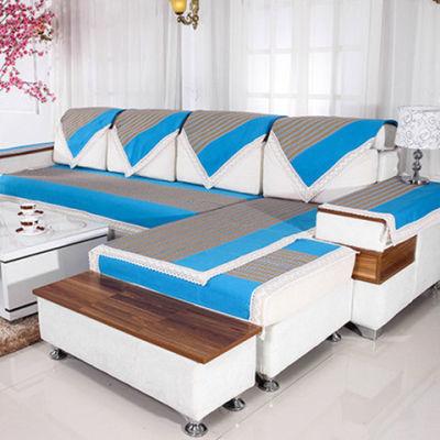夏凉加厚老粗布沙发布坐垫防滑组沙发垫靠背盖布棉麻季