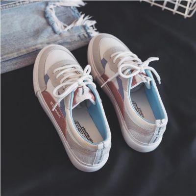 同款学生女鞋休闲时尚潮鞋帆布鞋秋季小白鞋女内裤女韩版黑色中年