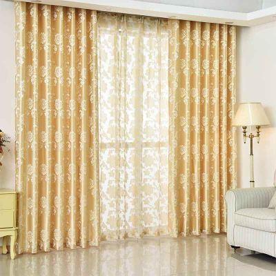 送绑绳欧式客厅卧室成品窗帘落地飘窗加厚全遮光窗帘窗纱可用门帘
