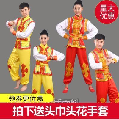 新款打鼓服秧歌服装民族男女装舞蹈演出服装舞龙舞狮腰鼓队武术服