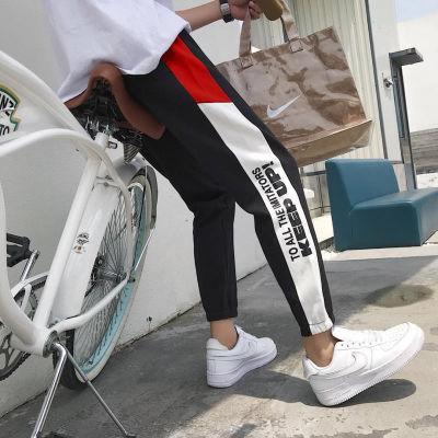 网红运动裤男短袖男士裤子夏季鳖破洞牛仔分裤修身牛仔弹腰抖音同