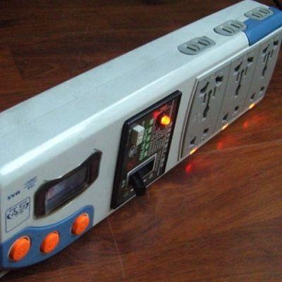 带短路跳闸器的多功能大功率万能插排插座自带1.8米电源线插头