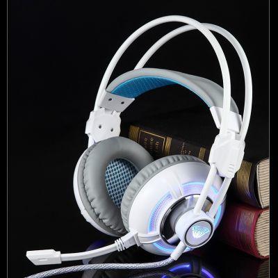 AULA/狼蛛 灵轮头戴式游戏耳机电脑耳麦重低音带话筒cf绝地求生