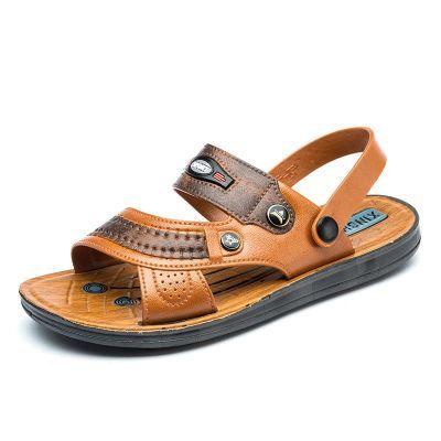 夏季长辈拖鞋凉鞋男士沙滩鞋男款防滑凉鞋两用凉拖鞋长辈拖鞋凉鞋