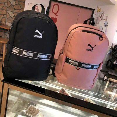 正品PUMA彪马双肩包女韩版学生书包情侣户外旅行背包男电脑包帆布