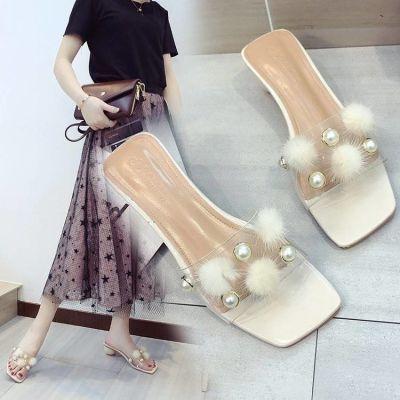 低跟凉鞋女鞋子女韩版潮流夏季学生女学生韩版平底新款皮拖鞋沙滩