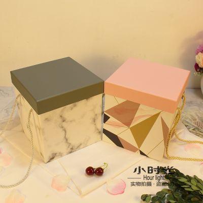 正方形礼品盒精美手提盒伴手礼物盒大号礼物包装盒时尚生日礼盒