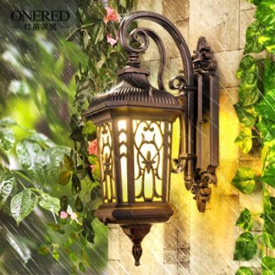 复古室外壁灯欧式防水户外灯具创意庭院灯美式阳台楼梯外墙壁灯
