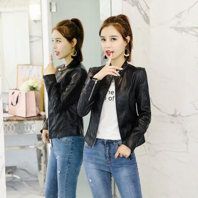 2018春秋新款皮衣女短款韩版修身显瘦时尚潮流水洗PU皮夹克外套潮