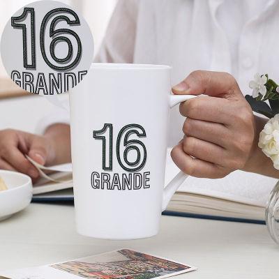 北欧ins情侣创意陶瓷杯子马克杯带盖勺大容量简约家用咖啡牛奶杯