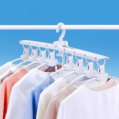 【抖音神器】众馨品牌多功能衣架晾衣架落地收纳百变魔术折叠挂衣
