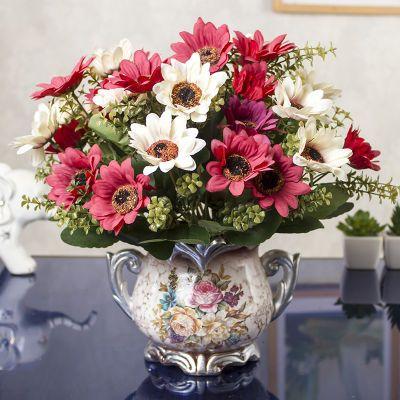 朵玫瑰花鲜花店装饰花遮挡装饰花茶干森系肥皂花束花盆栽塑料花装