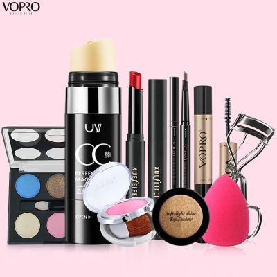 【彩妆4/6/8/9件套装】VOPRO化妆品初学者学生淡妆全套组合口红