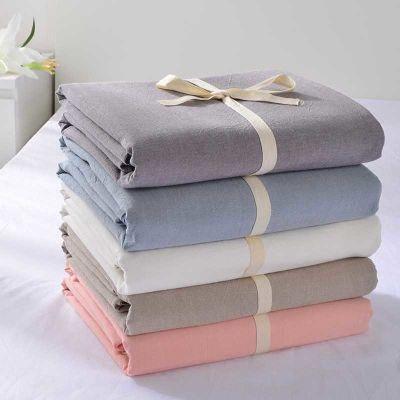 水洗棉床单单件纯棉全棉布料被单双人1.8m米床纯白灰色定做订制